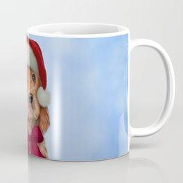 English Cocker Spaniel in red hat of Santa Claus Coffee Mug