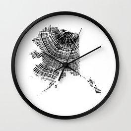 Alaska State, Tree rings, Tree ring print, Tree ring image, Wood Grain Wall Clock