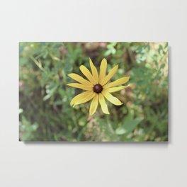 Vintage Yellow Flower Metal Print