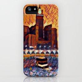 Saudi Arabia Mecca Artistic Illustration Closed Environment Style iPhone Case