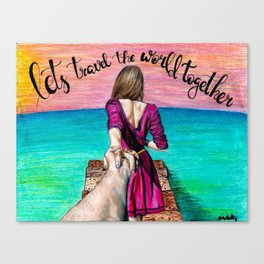 Lets Travel the World Together Canvas Print