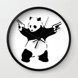 Panda, Banksy, Graffitti Wall Clock