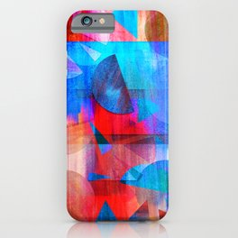 Watercolour Geos and Stripes iPhone Case