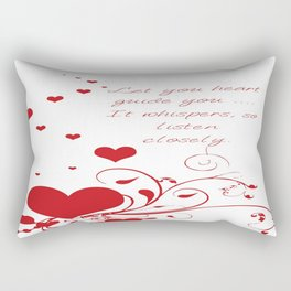 Let Your Heart Guide You Valentine Message Rectangular Pillow