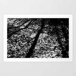 Static Forest Art Print