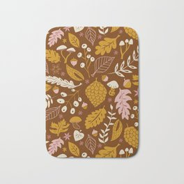 Fall Foliage in Gold + Brown Bath Mat