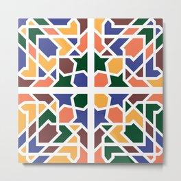 Andalusian Tiles 1 Metal Print