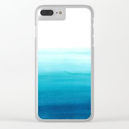 Dive into blue Clear iPhone Case