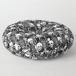 Restless Audience Gothic Skeleton Halloween Horror Pattern Floor Pillow