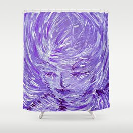 Blue Eolo Shower Curtain