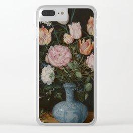 Flowers in a Wan-Li Vase - Jan Brueghel the Elder (1610-1615) Clear iPhone Case