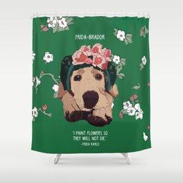 Frida-brador Shower Curtain