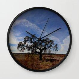 Lone Oak Tree, Laguna de Santa Rosa, Sonoma County Wall Clock
