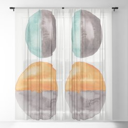 14    Abstract Geometric   191015 Sheer Curtain