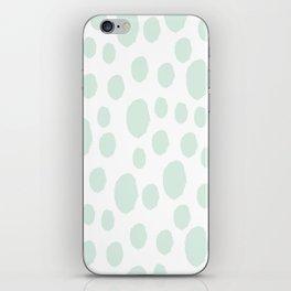 Mint Polka Art iPhone Skin