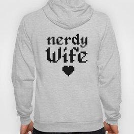 nerdy wife geek married couple gift Hoody