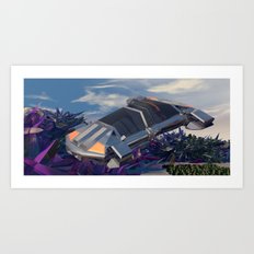 Traversing  the  Ruin Art Print