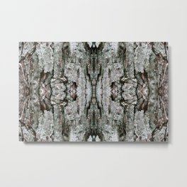 Abstract Maple Bark & Lichen - Natural Patterns Old Mossy Maple Tree Bark Metal Print