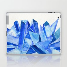 Sapphire Watercolor Facets Laptop & iPad Skin