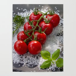Tomato risotto on salt Poster