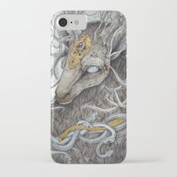 mononoke iPhone & iPod Cases featuring In Memory, as a print by Caitlin Hackett