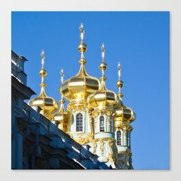 Catherine Palace Spires - Pushkin - Russia Canvas Print