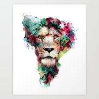 king Art Prints featuring THE KING by RIZA PEKER