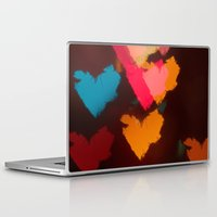 hearts Laptop & iPad Skins featuring Hearts by Tanya Thomas