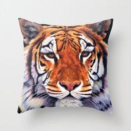 Tiger Sultan of Siberia Throw Pillow