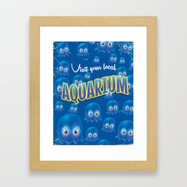 Visit the Aquarium Jellyfish poster Framed Art Print