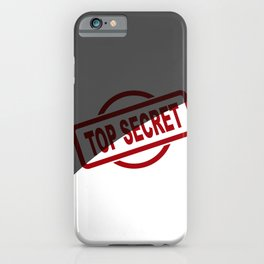 Top Secret Half Covered Ink Stamp iPhone Case
