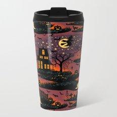 Halloween Night - Bonfire Glow Metal Travel Mug