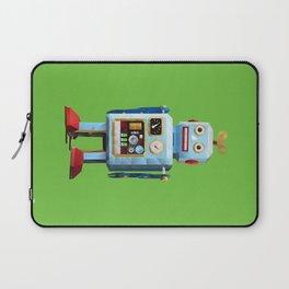 Retro Tin Toy Robot Polygon Art Laptop Sleeve