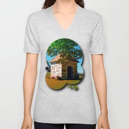 The Binder chapel (and some tree) Unisex V-Neck