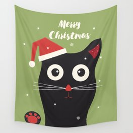 Christmas Cat Wall Tapestry