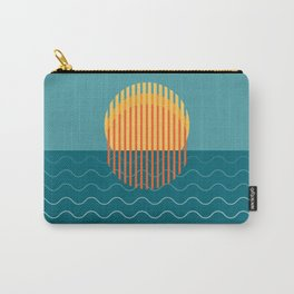Minimalist Sunset Over Ocean, Holiday Print, Sun Set Poster, Large Printable Photography, Wall Art Carry-All Pouch