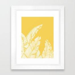 Banana Leaves on Yellow #society6 #decor #buyart Framed Art Print