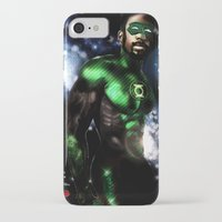 john green iPhone & iPod Cases featuring John Stewart : The Green Lantern by André Joseph Martin
