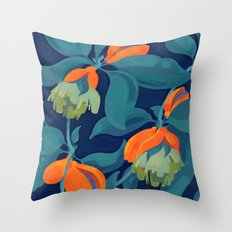 Tropical orange fruit tree Throw Pillow