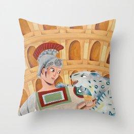 Roman Gladiator Throw Pillow