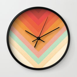 Rainbow Chevrons Wall Clock