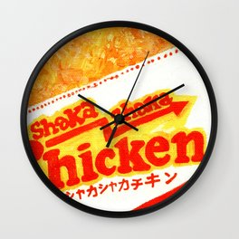shaka chicken Wall Clock