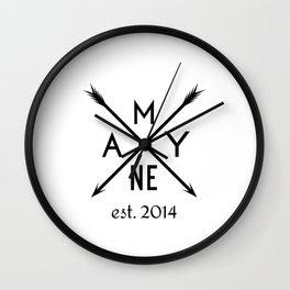 Mayne Arrows Wall Clock