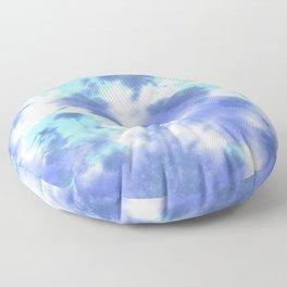 Pastel Ocean Blues Zen Tie Dye Floor Pillow