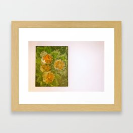 Dahlia flowers Framed Art Print