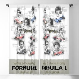 Formula 1 World-Champion from 1970 to 1979 Blackout Curtain