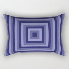Blue Squares Rectangular Pillow