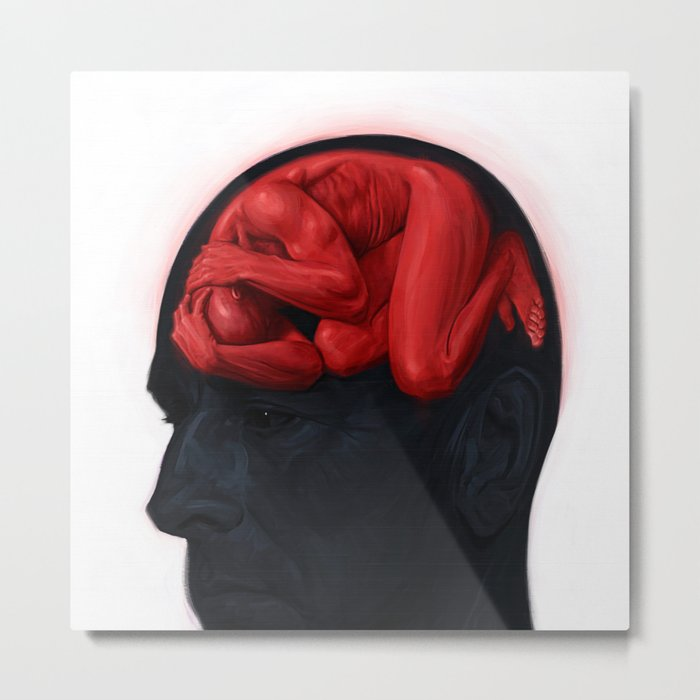 Brain Sick II Metal Print