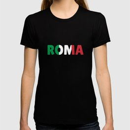 Roma Italy flag holiday gift T-shirt