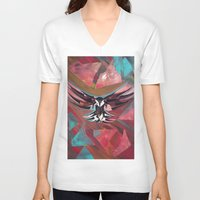 flight V-neck T-shirts featuring FLIGHT  by Matt Schiermeier
